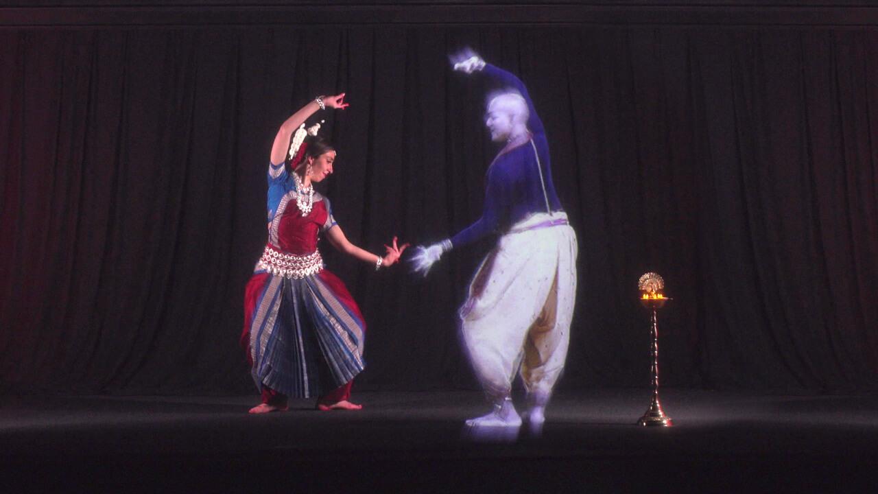 Holographic Performance Avishai Leger-Tanger digital artist